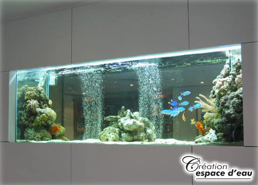Large scale freestanding or recessed aquariums canada for Aquarium mural