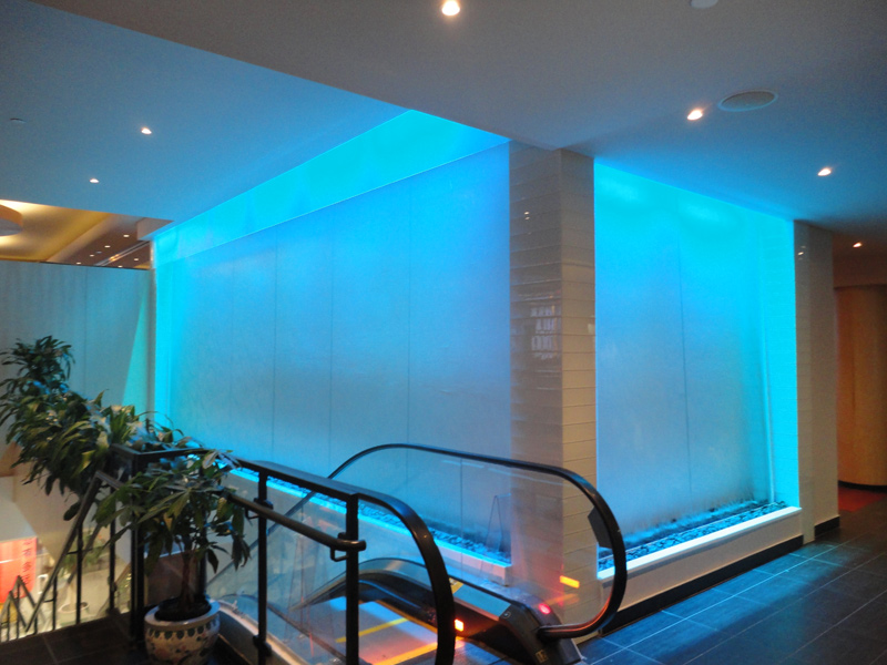 Indoor Water Fountain In A Hotel Conception And