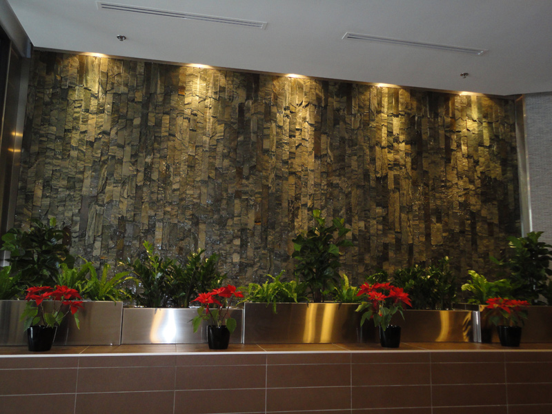 indoor and outdoor large scale water fountains walls - Slate Wall Fountains Indoor